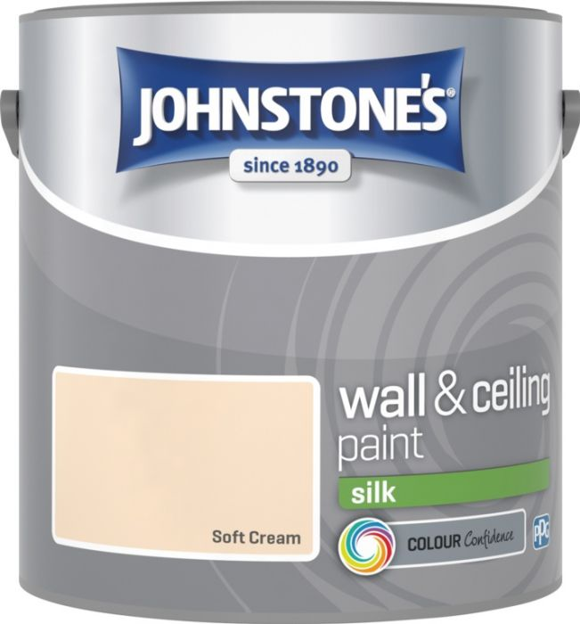 Johnstone's Wall & Ceiling Silk 2.5L Soft Cream