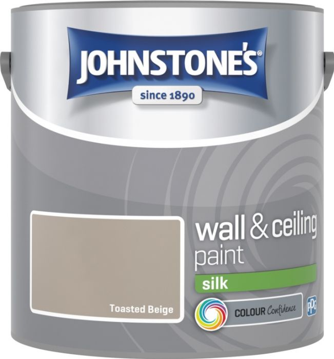 Johnstone's Wall & Ceiling Silk 2.5L Toasted Beige