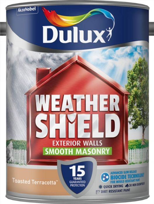 Dulux Weathershield Smooth Masonry Paint 5L Toasted Terracotta