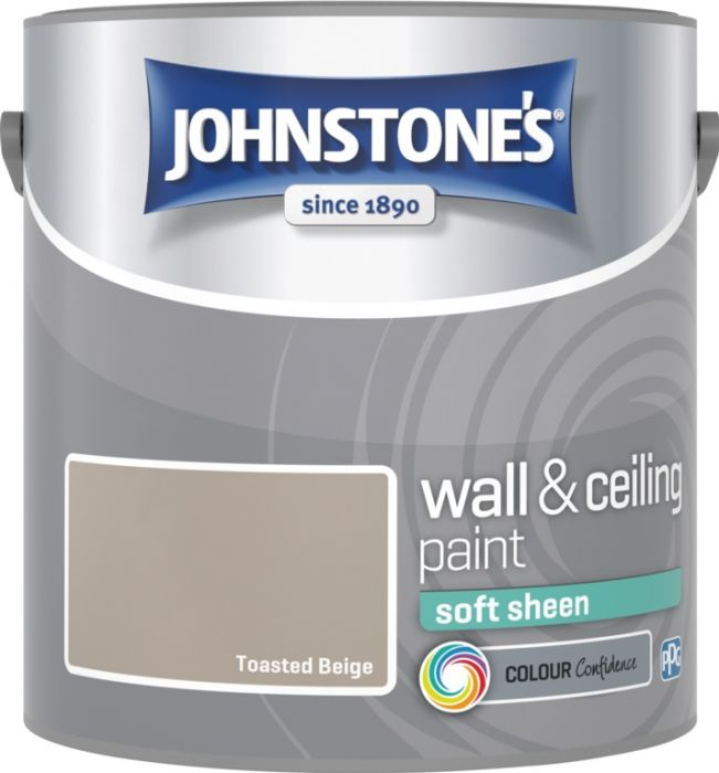 Johnstone's Wall & Ceiling Soft Sheen 2.5L Toasted Beige