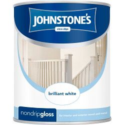 Johnstone's Non Drip Gloss - Brilliant White 750Ml