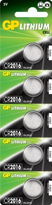 Gp Lithium Button Cell Battery Cr2016 Card 5