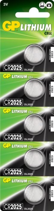 Gp Lithium Button Cell Battery Cr2025 Card 5