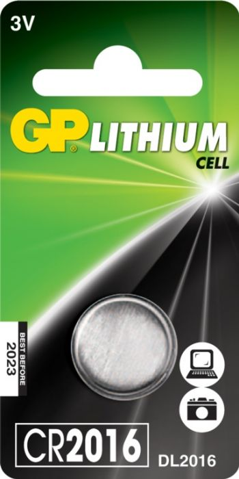 Gp Lithium Button Cell Battery Cr2016 Single