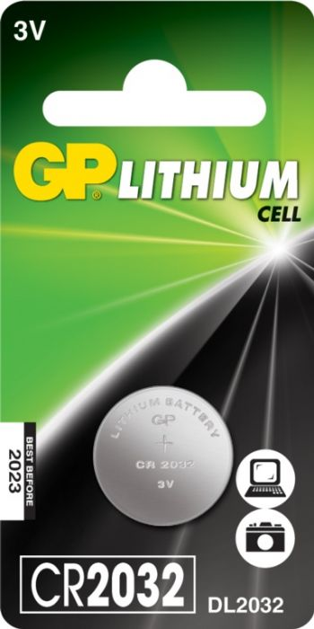 Gp Lithium Button Cell Battery Cr2032 Single