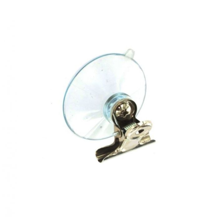 Securit Suction Hook With Clip Clear (2) 45Mm