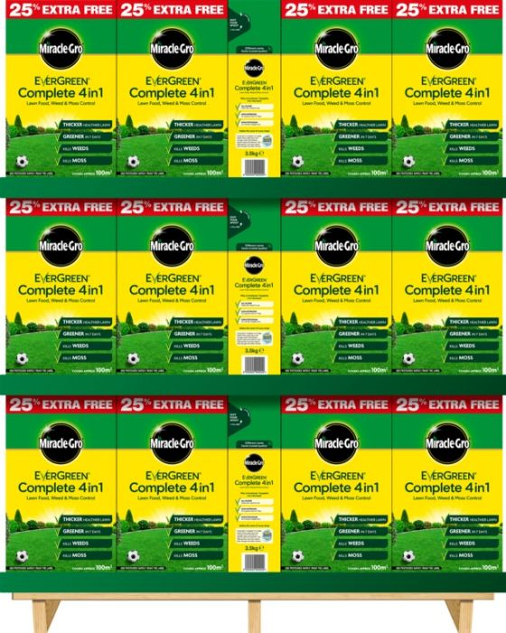 Miracle-Gro Evergreen Complete 4 In 1 78 X 80M2 + 25% Extra Free Carton