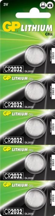 Gp Lithium Button Cell Battery Cr2032 Card 5