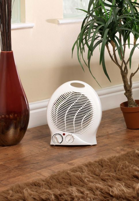 Supawarm Fan Heater 2000W Size: 220Mm(W)X130mm(D)X260mm(H)