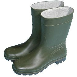 Town & Country Essentials Half Length Wellington Boots - Green Uk Size 4 - Euro Size 37