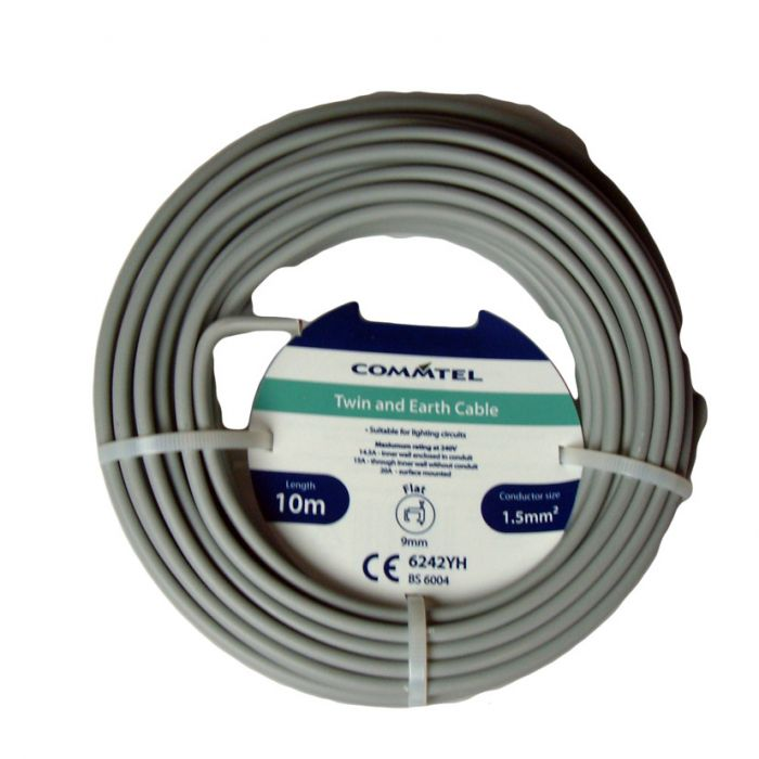Commtel Twin And Earth Cable 10M 1.5Mm