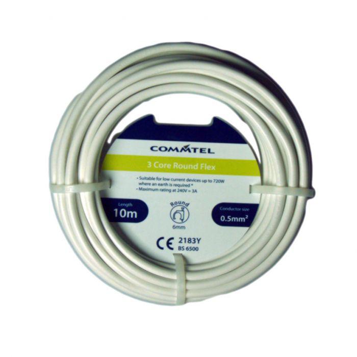 Commtel 3 Core Round Flex 10M 0.5Mm2