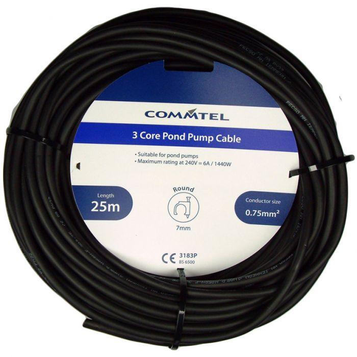 Commtel 3 Core Pond Pump Cable 25M