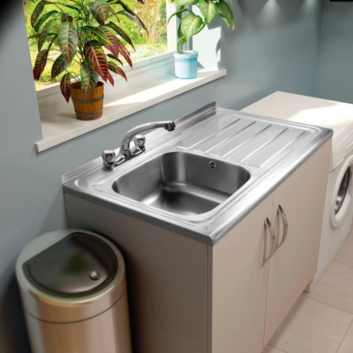 Supaplumb 2 Tap Sit On Sink Left Hand Drainer