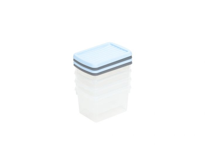 Wham Boxes And Lids 1.5L 2 Assorted Colours Pack 4