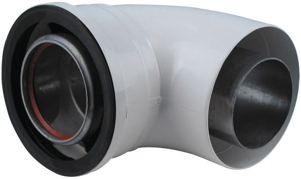 Vokera 90Deg Bend 80/125Mm