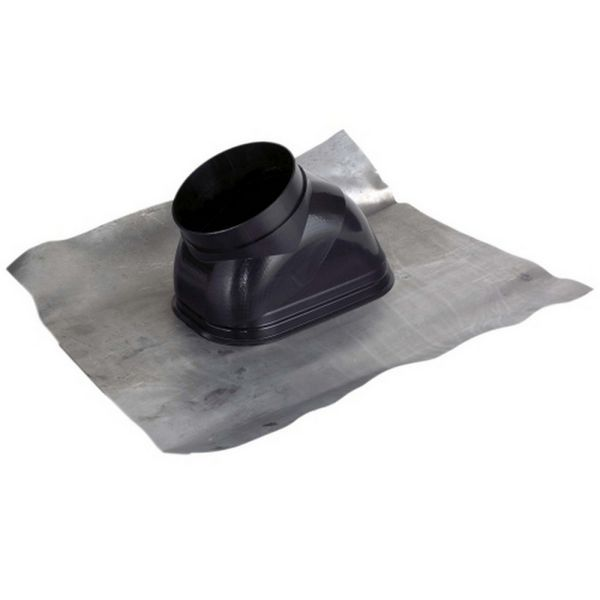 Viessmann Lead Roof Tile 125Mm Dia Black