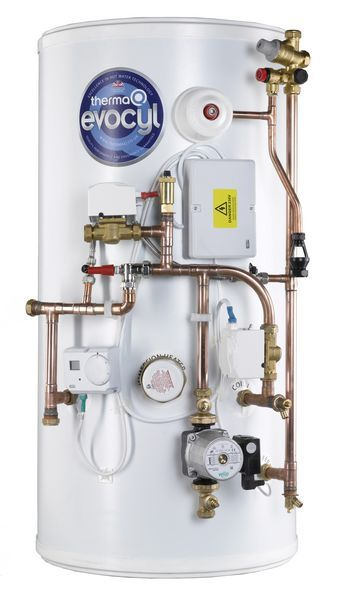 Thermaq Evocyl High Efficiency Indirect Efficiency Direct Pre-Plumbed Single Zone Cylinder 210Ltr