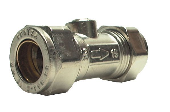 Midland Brass Quarter-Turn Positive Stop Isolating Valve 15Mm