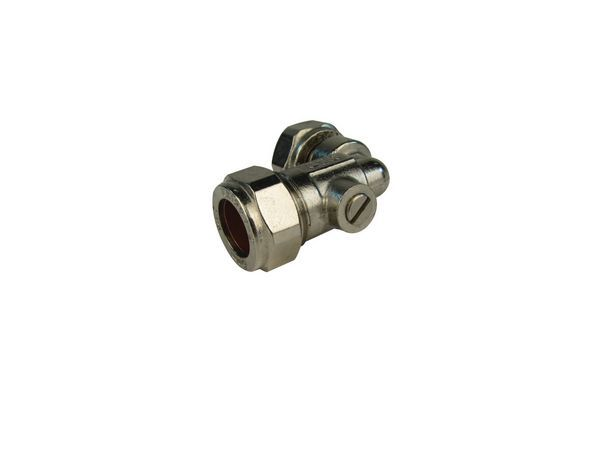 Midland Brass Angle Service Valve 15Mm X 1/2 Nickel Plated