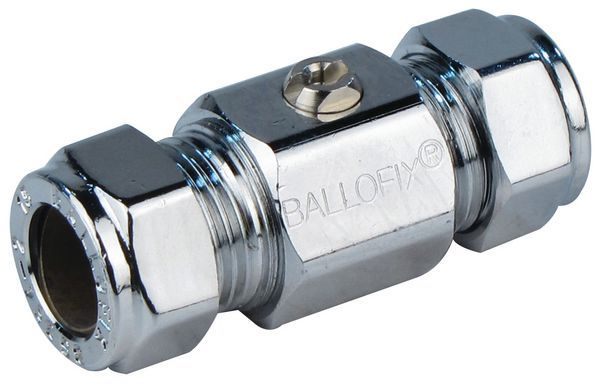 Pegler Yorkshire Ballofix 3381Za Copper X Copper Valve 15Mm Chrome