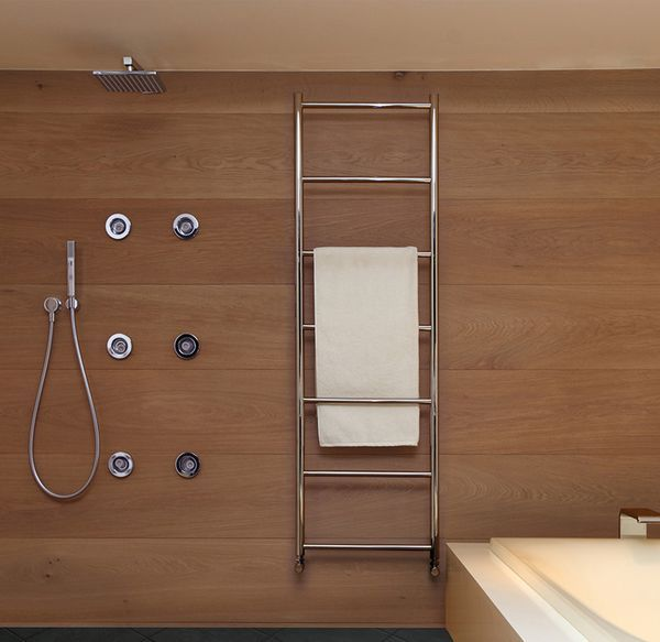 Vogue Galaxy Central Heating Only Towel Rail 1200 X 500Mm Polished Steel