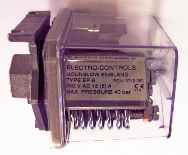 Electro Controls Ep-8 Liquid Pressure Switch Ip65