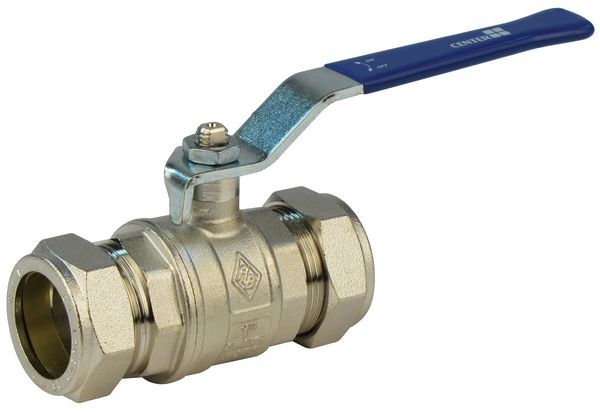 Center Cb Lever Ball Valve Wras 22Mm Brass
