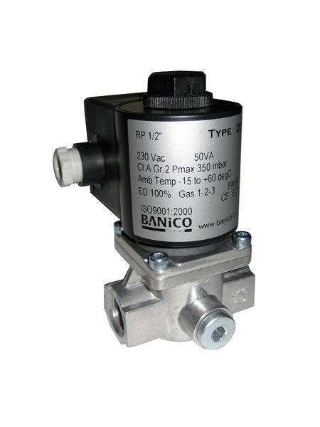 Fantini Banico Automatic Reset Gas Solenoid Valve 230V 1/4