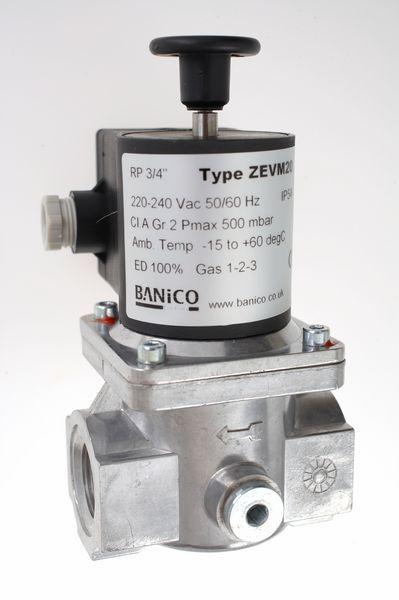 Fantini Banico Zevm20 Gas Solenoid Valve Manual Reset 3/4 230V