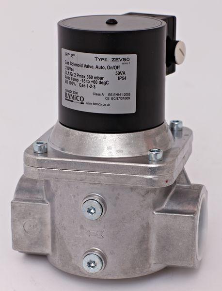 Fantini Banico Zev40-24 Gas Solenoid Valve Automatic Reset 1 1/2Inch 24V