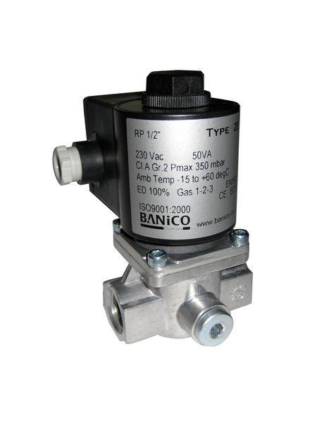 Center 3/8 Gas Solenoid Valve Automatic-Reset 230V