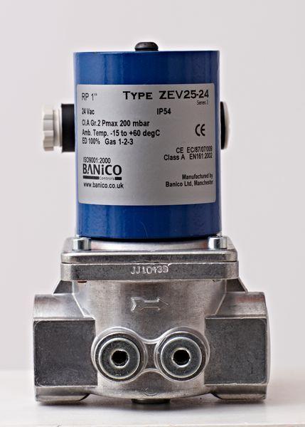 Center 1 Gas Solenoid Valve 24Vac Automatic-Reset