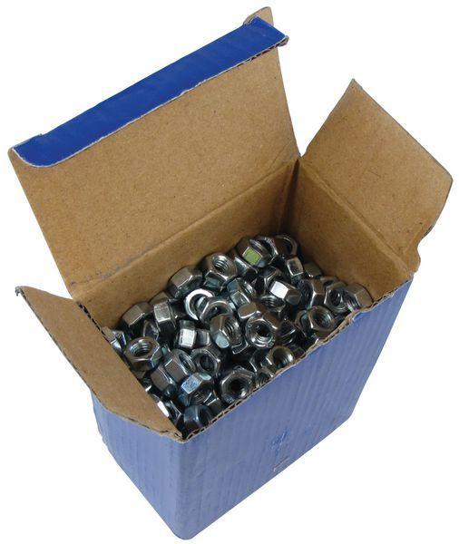 Forgefix M6 Hexagon Nuts Zinc Plated Pk500
