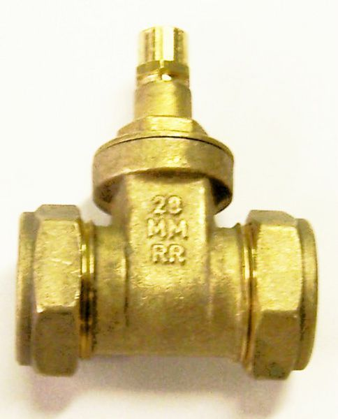 Midland Brass Brass Copper X Copper Lockshield Gate Valve 28Mm