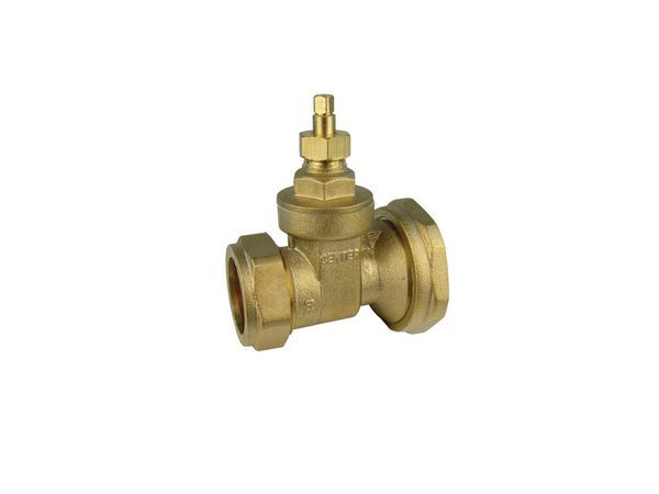 Center Cb Pump Gate Valve 28Mm X 1 1/2 Brass