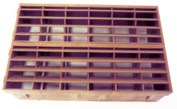 Airflow Air9202 9X6 Louvred Airbrick Brown