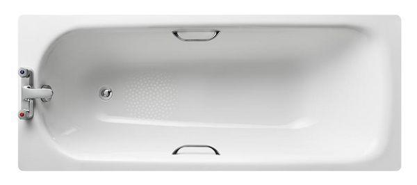Nabis 2 Tap Hole Low Volume Anti-Slip Bath 1700Mm White