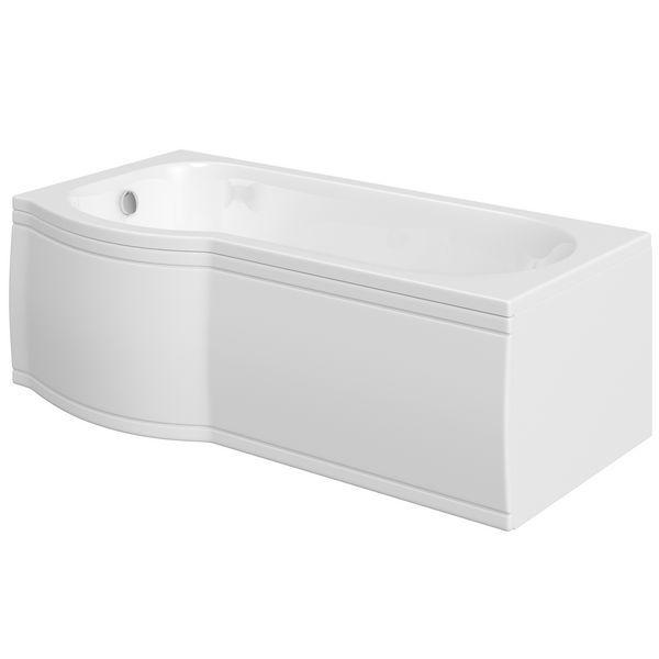 Nabis Taylor Shower Bath P-Shape Front Panel 1700X510mm White