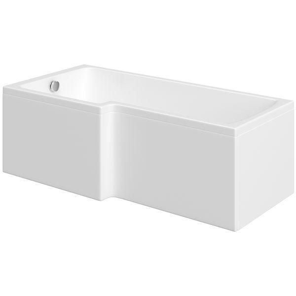 Nabis Garland Shower Bath L-Shape Front Panel 1700X510mm White
