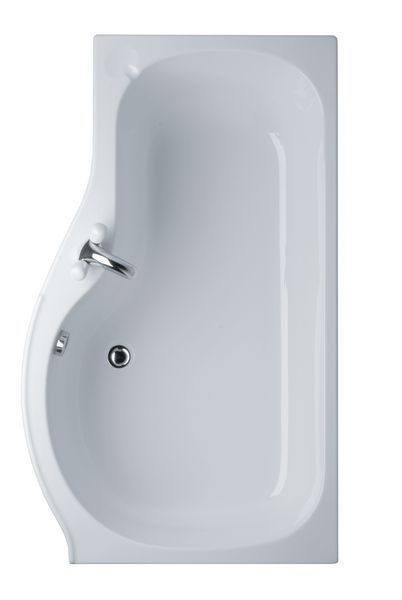 Ideal Standard Space No Tap Hole Right Hand Shower Bath 1500 X 700Mm White