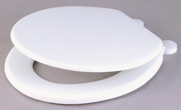 Center Mdf Wc Seat 18 Plastic Hinges White