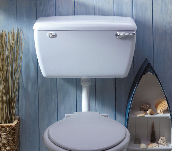 Thomas Dudley Tri-Shell Bottom Outlet High Pressure Low Level Cistern White