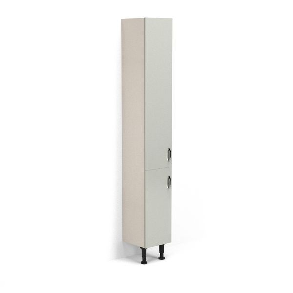 Nabis Grace Doors For Tall Unit 300Mm Silver Grey Gloss