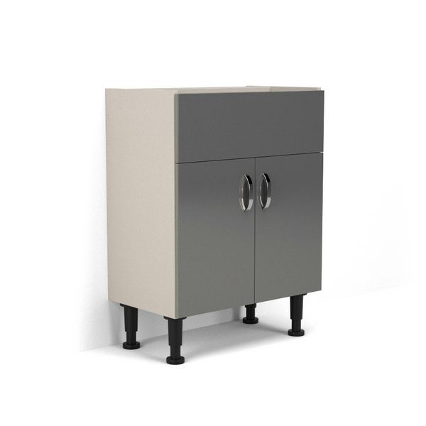 Nabis Grace Fascia Pack For Washbasin Unit 600Mm Charcoal Grey Gloss
