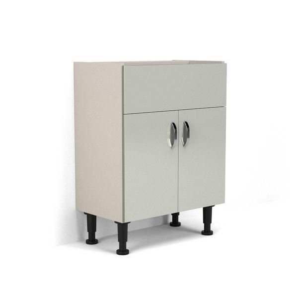 Nabis Vision Fascia Pack For Washbasin Unit 700Mm Silver Grey Gloss