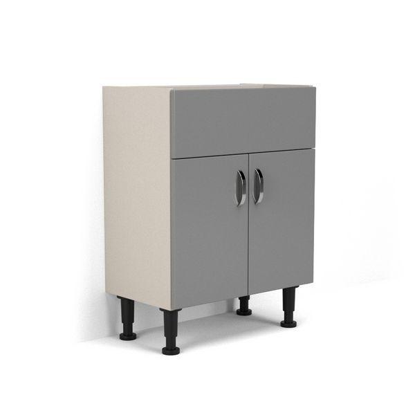 Nabis Vision Fascia Pack For Washbasin Unit 700Mm Grey Gloss