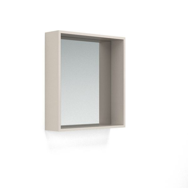 Nabis Open Mirror Unit 600Mm Cashmere