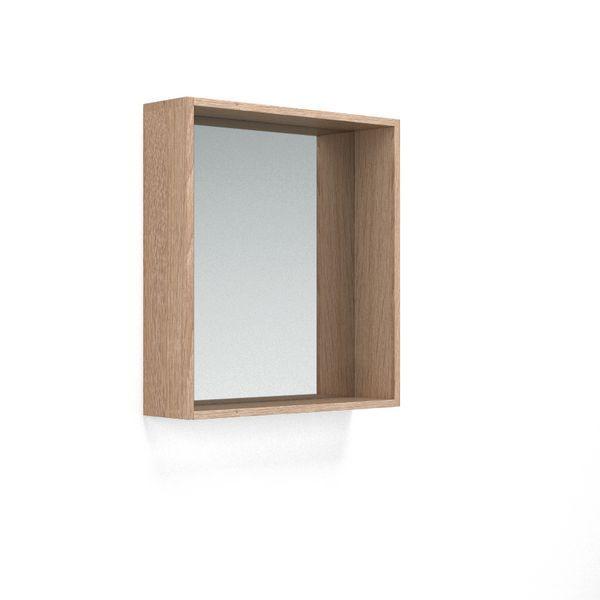 Nabis Open Mirror Unit 600Mm Natural Oak