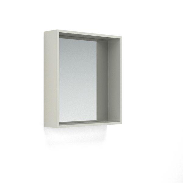Nabis Open Mirror Unit 700Mm Silver Grey Gloss